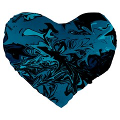 Colors Large 19  Premium Heart Shape Cushions