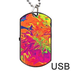 Colors Dog Tag USB Flash (Two Sides)
