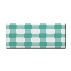 Plaid Blue Green White Line Cosmetic Storage Cases