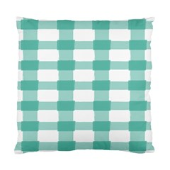 Plaid Blue Green White Line Standard Cushion Case (One Side)
