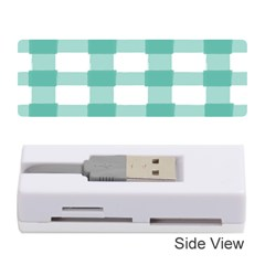 Plaid Blue Green White Line Memory Card Reader (Stick)