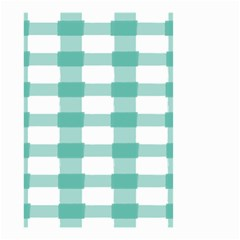 Plaid Blue Green White Line Small Garden Flag (Two Sides)