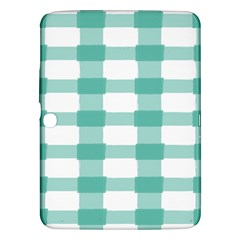 Plaid Blue Green White Line Samsung Galaxy Tab 3 (10 1 ) P5200 Hardshell Case