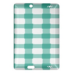 Plaid Blue Green White Line Amazon Kindle Fire HD (2013) Hardshell Case