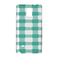 Plaid Blue Green White Line Samsung Galaxy Note 4 Hardshell Case