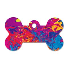 Colors Dog Tag Bone (two Sides)