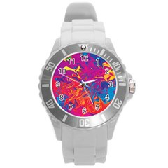 Colors Round Plastic Sport Watch (L)