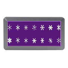 Purple Flower Floral Star White Memory Card Reader (Mini)