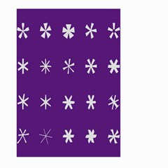 Purple Flower Floral Star White Large Garden Flag (Two Sides)