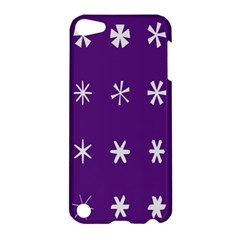 Purple Flower Floral Star White Apple iPod Touch 5 Hardshell Case