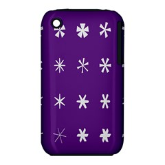 Purple Flower Floral Star White Iphone 3s/3gs