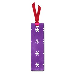 Purple Flower Floral Star White Small Book Marks