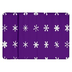 Purple Flower Floral Star White Samsung Galaxy Tab 8.9  P7300 Flip Case