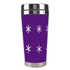 Purple Flower Floral Star White Stainless Steel Travel Tumblers