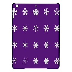 Purple Flower Floral Star White iPad Air Hardshell Cases