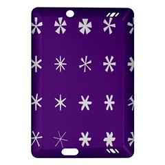 Purple Flower Floral Star White Amazon Kindle Fire HD (2013) Hardshell Case