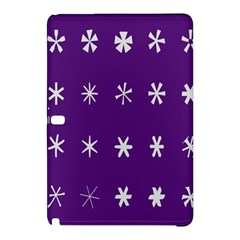 Purple Flower Floral Star White Samsung Galaxy Tab Pro 12.2 Hardshell Case