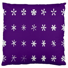 Purple Flower Floral Star White Standard Flano Cushion Case (two Sides)