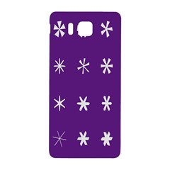 Purple Flower Floral Star White Samsung Galaxy Alpha Hardshell Back Case