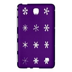 Purple Flower Floral Star White Samsung Galaxy Tab 4 (7 ) Hardshell Case