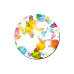 Lamp Color Rainbow Light Magnet 3  (Round) Front