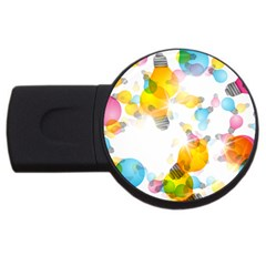 Lamp Color Rainbow Light USB Flash Drive Round (2 GB)