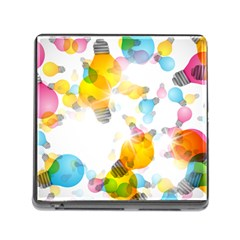 Lamp Color Rainbow Light Memory Card Reader (Square)
