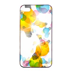 Lamp Color Rainbow Light Apple iPhone 4/4s Seamless Case (Black)