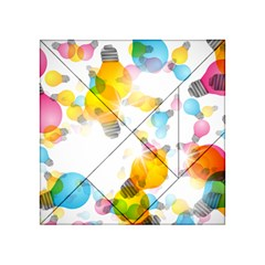 Lamp Color Rainbow Light Acrylic Tangram Puzzle (4  x 4 )