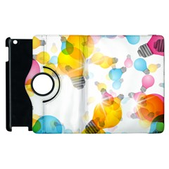 Lamp Color Rainbow Light Apple iPad 3/4 Flip 360 Case