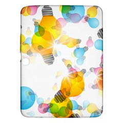 Lamp Color Rainbow Light Samsung Galaxy Tab 3 (10.1 ) P5200 Hardshell Case