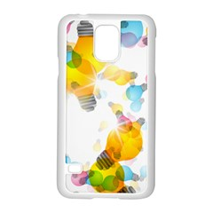 Lamp Color Rainbow Light Samsung Galaxy S5 Case (White)