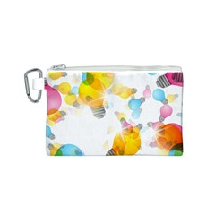 Lamp Color Rainbow Light Canvas Cosmetic Bag (S)