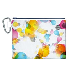 Lamp Color Rainbow Light Canvas Cosmetic Bag (L)