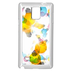 Lamp Color Rainbow Light Samsung Galaxy Note 4 Case (White)
