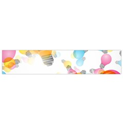 Lamp Color Rainbow Light Flano Scarf (Small)
