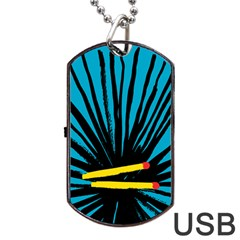 Match Cover Matches Dog Tag USB Flash (Two Sides)