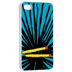 Match Cover Matches Apple iPhone 4/4s Seamless Case (White)