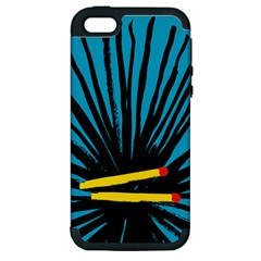 Match Cover Matches Apple Iphone 5 Hardshell Case (pc+silicone)