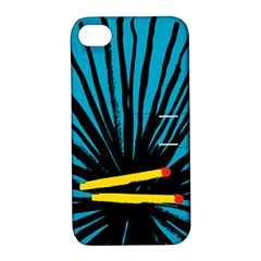 Match Cover Matches Apple iPhone 4/4S Hardshell Case with Stand