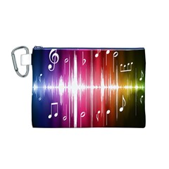 Music Data Science Line Canvas Cosmetic Bag (M)