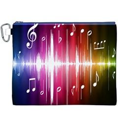 Music Data Science Line Canvas Cosmetic Bag (XXXL)