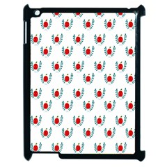 Sage Apple Wrap Smile Face Fruit Apple iPad 2 Case (Black)