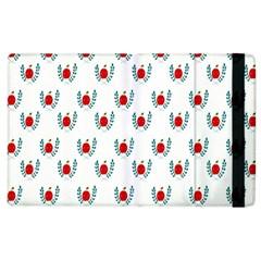 Sage Apple Wrap Smile Face Fruit Apple iPad 3/4 Flip Case
