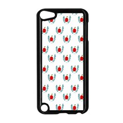 Sage Apple Wrap Smile Face Fruit Apple iPod Touch 5 Case (Black)