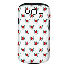 Sage Apple Wrap Smile Face Fruit Samsung Galaxy S III Classic Hardshell Case (PC+Silicone)