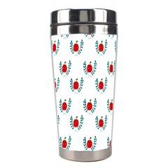 Sage Apple Wrap Smile Face Fruit Stainless Steel Travel Tumblers