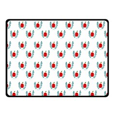 Sage Apple Wrap Smile Face Fruit Double Sided Fleece Blanket (Small)