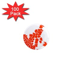 Red Spot Paint 1  Mini Magnets (100 pack)