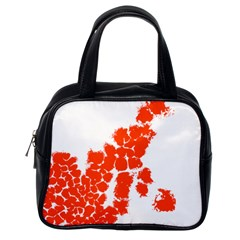 Red Spot Paint Classic Handbags (One Side)